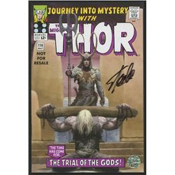 """Stan Lee Signed 1965 """"The Mighty Thor"""" Issue #116 Reprint Marvel Comic Book (Lee COA)"""
