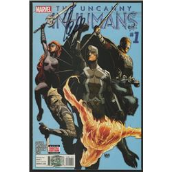 """Stan Lee Signed 2015 """"The Uncanny Inhumans"""" Issue #1 Marvel Comic Book (Lee COA)"""