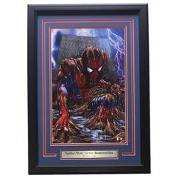 "Greg Horn Signed ""Spider-Man Grave Resurrection"" 13x19 Custom Framed Photo Display (SI COA)"