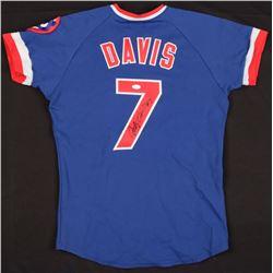 Jody Davis Signed Vintage Sand-Knit Cubs Jersey (JSA COA)