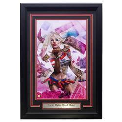 """Greg Horn Signed """"Harley Quinn: Blood Money"""" 11x17 Custom Framed Lithograph (SI COA)"""