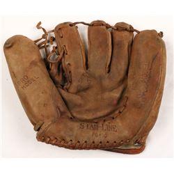 Hal Newhouser Signed Vintage Baseball Glove (JSA COA)