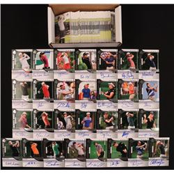 2012 SP Authentic Near-Complete Set of (118/119) Golf Cards with #111 Morgan Pressel RC, #112 Webb S