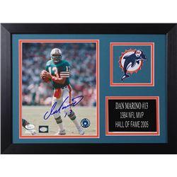 Dan Marino Signed Dolphins 14x18.5 Custom Framed Photo Display (JSA COA)
