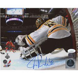 Tuukka Rask Signed Bruins 2013 Stanley Cup Final 8x10 Photo (JSA COA  Rask Hologram)