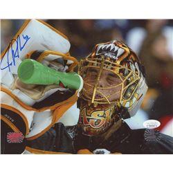 Tuukka Rask Signed Bruins 8x10 Photo (JSA COA  Rask Hologram)
