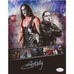 Sting Signed WrestleMania 8x10 Photo (JSA Hologram)