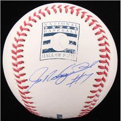 Ivan Rodriguez Signed OML Hall of Fame Logo Baseball (JSA COA)