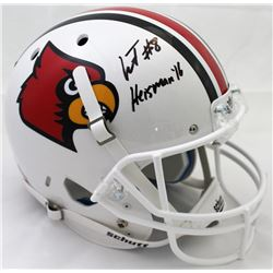Lamar Jackson Signed Louisville Cardinals Full-Size Helmet (JSA COA)