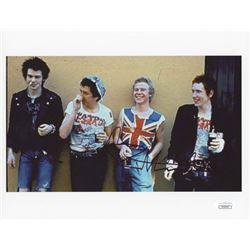 Johnny Rotten Signed Sex Pistols 8x10 Photo (JSA Hologram)