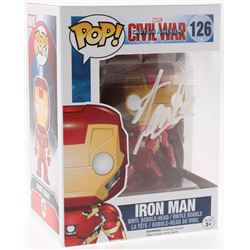 "Stan Lee Signed ""Iron Man"" Funko Pop! #126 Vinyl Figure (Radtke COA  Lee Hologram)"