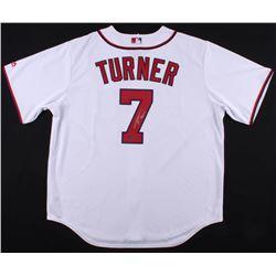 Trea Turner Signed Nationals Jersey (Schwartz COA)