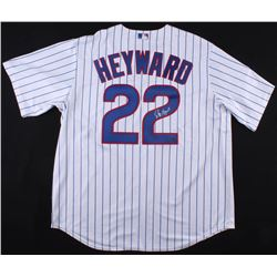 Jason Heyward Signed Cubs Jersey with 2016 World Series Patch (Schwartz COA)