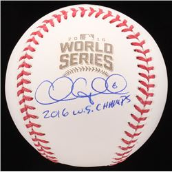 "Chris Coghlan Signed 2016 World Series Baseball Inscribed ""2016 W.S. Champs"" (Schwartz COA)"
