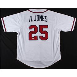 "Andruw Jones Signed Braves ""Curacao Kid"" Jersey (JSA COA)"