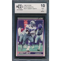 1990 Score Supplemental #101T Emmitt Smith RC (BCCG 10)