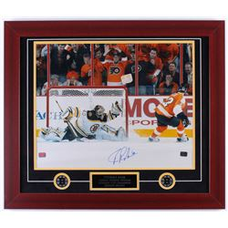 Tuukka Rask Signed Bruins 23.5x27.5 Custom Framed Photo Display (Rask Hologram)