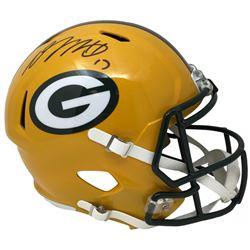 Davante Adams Signed Packers Riddell Full-Size Speed Helmet (JSA COA)