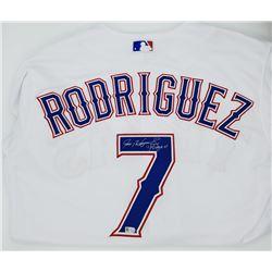 "Ivan Rodriguez Signed Rangers Jersey Inscribed ""Pudge"" (MLB)"