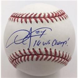 """Dexter Fowler Signed Baseball Inscribed """"16 WS Champs"""" (MLB)"""