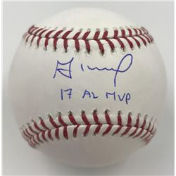 "Jose Altuve Signed Baseball Inscribed ""17 AL MVP"" (MLB)"