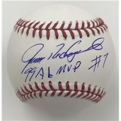 "Ivan Rodriguez Signed Baseball Inscribed ""99 AL MVP"" (MLB)"