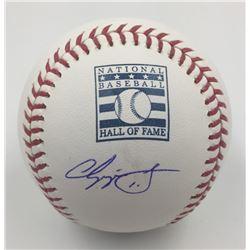 Chipper Jones Signed Hall of Fame Logo Baseball (MLB)