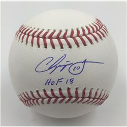 "Chipper Jones Signed Baseball Inscribed ""HOF 18"" (MLB)"