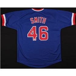 Lee Smith Signed Cubs Jersey (JSA COA)