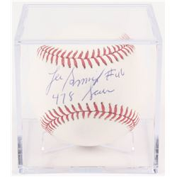 "Lee Smith Signed OML Baseball with Display Case Inscribed ""478 Saves"" (Beckett COA)"