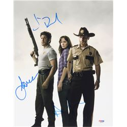 "Andrew Lincoln, Sarah Wayne Callies  Jon Bernthal Signed ""The Walking Dead"" 11x14 Photo (PSA COA)"