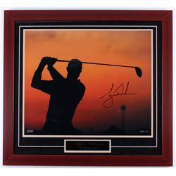Tiger Woods Signed 29x31.5 Custom Framed Photo Display (UDA Hologram)