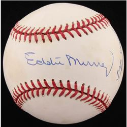 Willie Mays  Eddie Murray Signed OAL Baseball (JSA ALOA)