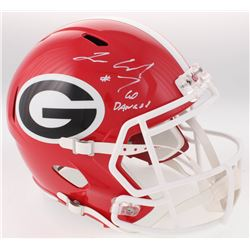 "Lorenzo Carter Signed Georgia Bulldogs Full-Size Speed Helmet Inscribed ""Go Dawgs!"" (Radtke COA)"