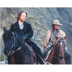 "Russell Crowe  Christian Bale Signed ""3:10 To Yuma"" 16x20 Photo (PSA LOA)"