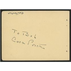 Cole Porter Signed 4.5x6 Cut (Beckett LOA)