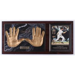 "Cal Ripken Jr. Signed LE Orioles ""Hands of Gold"" 13x28 Custom Framed Photo Display with Hand-Print P"