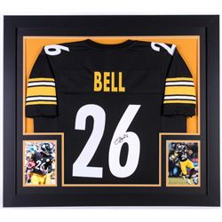 Le'Veon Bell Signed Steelers 35x43 Custom Framed Jersey (JSA COA)