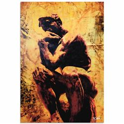 """Rodin Clarified Thought"" 22x32 LE Contemporary Pop Art Giclee on Aluminum by Mark Lewis"