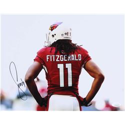 Larry Fitzgerald Signed Cardinals 11x14 Photo (JSA COA)