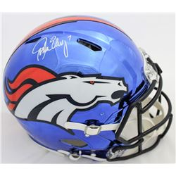 John Elway Signed Broncos Full-Size Authentic On-Field Chrome Speed Helmet (Beckett COA)