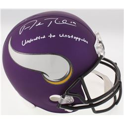 "Adam Thielen Signed Vikings Full-Size Helmet Inscribed ""Undrafted to Unstoppable"" (JSA COA)"