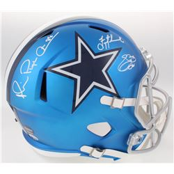 "Troy Aikman, Emmitt Smith  Michael ""Playmaker"" Irvin Signed Cowboys Full-Size Blaze Alternate Speed"