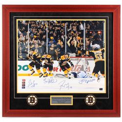 "2013 Bruins ""The Greatest Comeback in NHL Playoff History!"" 30.25x31.75 Custom Framed Photo Display"