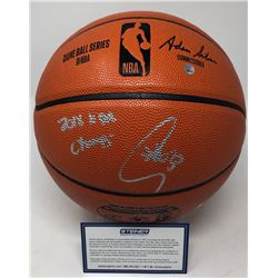"Stephen Curry Signed NBA Game Ball Series Basketball Inscribed ""2018 NBA Champs"" (Steiner COA)"