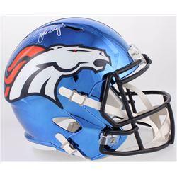 John Elway Signed Broncos Full-Size Chrome Speed Helmet (Beckett COA)