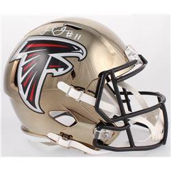 Julio Jones Signed Falcons Full-Size Chrome Speed Helmet (JSA COA)