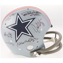 Doomsday Defense Cowboys Full-Size Throwback Suspension Helmet Team-Signed by (6) with Bob Lilly, Ra