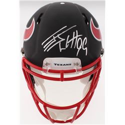 J.J. Watt Signed Texans Full-Size Custom Matte Black Authentic On-Field Speed Helmet (JSA COA  Watt