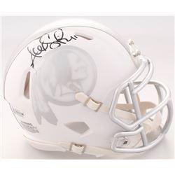 Alex Smith Signed Redskins White ICE Speed Mini Helmet (Beckett COA)